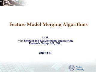Feature Model Merging Algorithms