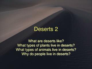Deserts 2