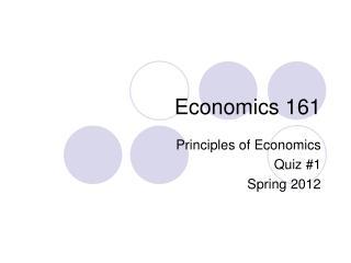 Economics  161
