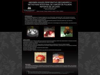 Muy infrecuentes 1-6% de tumores gastrointestinales 1-4% tumores  metastásicos . Origen:
