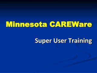 Minnesota CAREWare
