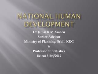 National Human Development