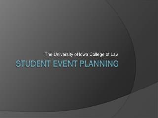 Student Event Planning
