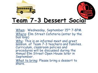 Team 7-3 Dessert Social