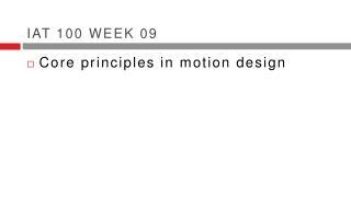 IAT 100 week 09