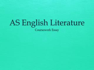 AS English Literature