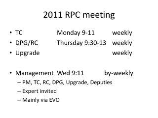 2011 RPC meeting