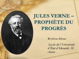 JULES VERNE – PROPHÈTE DU PROGRÈS