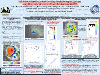 Validation of Satellite-Derived Cloud Top Heights in Tropical Cyclones
