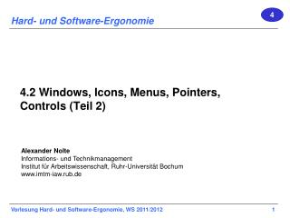 4.2 Windows, Icons,  Menus , Pointers, Controls (Teil 2)
