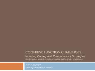COGNITIVE FUNCTION CHALLENGES Including Coping and Compensatory Strategies FIBROMYALGIA  CHRONIC FATIGUE IMMUNE DYSFUNCT