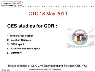 Report on behalf of CLIC Civil Engineering and Services (CES) WG