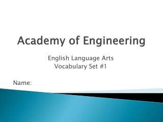 Academy of Engineering