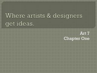 Where artists & designers get ideas.