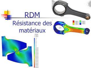 RDM Résistance des matériaux