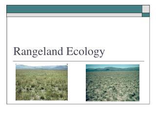 Rangeland Ecology