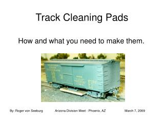 Track Cleaning Pads