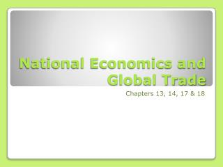 National Economics and Global Trade