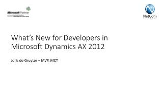 What's New for Developers in Microsoft Dynamics AX 2012