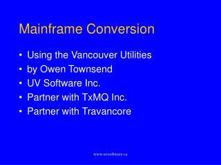 Mainframe Conversion