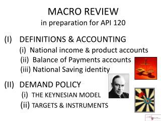 MACRO REVIEW in preparation for API 120
