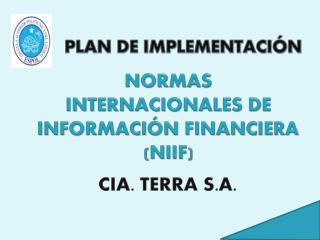 NORMAS INTERNACIONALES DE INFORMACIÓN FINANCIERA (NIIF)