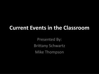 Current Events in the Classroom
