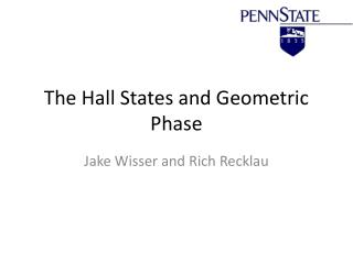 The Hall States and Geometric Phase