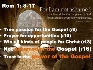 Rom 1: 8-17