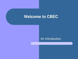 Welcome to CBEC