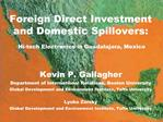 Foreign Direct Investment and Domestic Spillovers:    Hi-tech Electronics in Guadalajara, Mexico