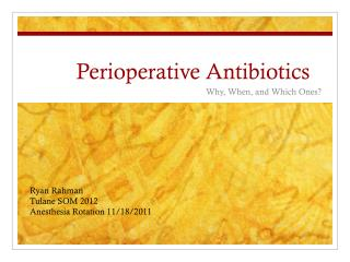 Perioperative  Antibiotics