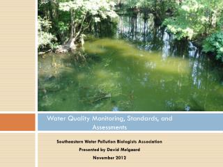 Water Quality Monitoring, Standards, and Assessments