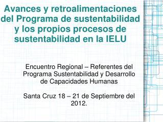 Encuentro Regional – Referentes del Programa Sustentabilidad y Desarrollo de Capacidades Humanas