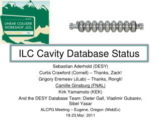 ILC Cavity Database Status