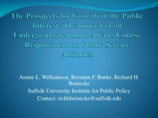 Aimee L. Williamson, Brendan F. Burke, Richard H.  Beinecke
