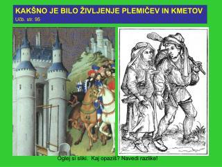 KAK NO JE BILO  IVLJENJE PLEMICEV IN KMETOV Ucb. str. 95