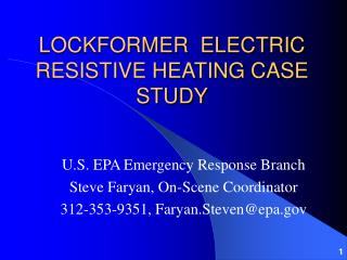 LOCKFORMER  ELECTRIC RESISTIVE HEATING CASE STUDY