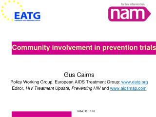 Community involvement in prevention trials