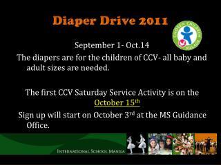 Diaper Drive 2011