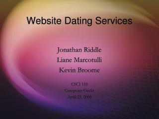 Website Dating Services