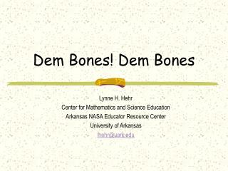 Dem Bones Dem Bones