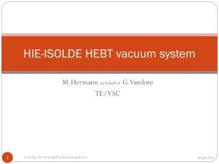 HIE-ISOLDE HEBT vacuum system