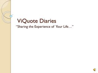 ViQuote  Diaries