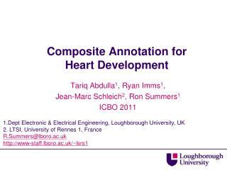 Composite Annotation for Heart Development