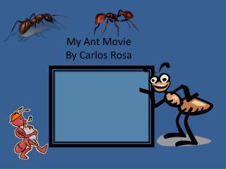 My Ant Movie By Carlos Rosa