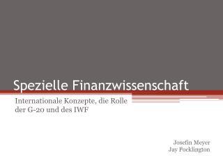 Spezielle Finanzwissenschaft