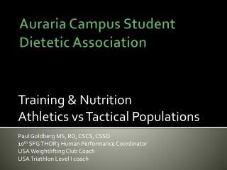 Auraria Campus Student Dietetic Association