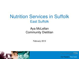 Nutrition Services in Suffolk East Suffolk