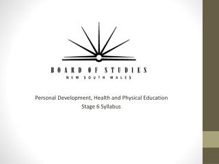 Personal Development, Health and Physical Education